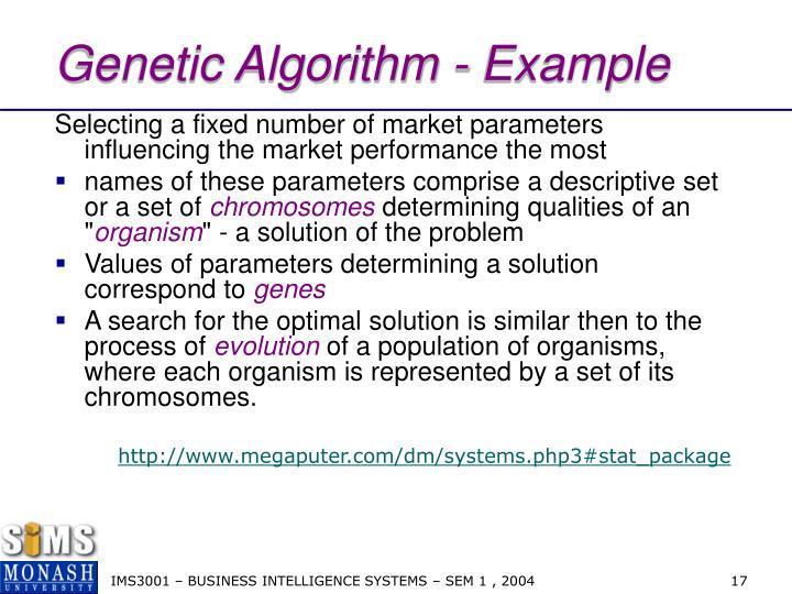 Genetic Algorithm - Example