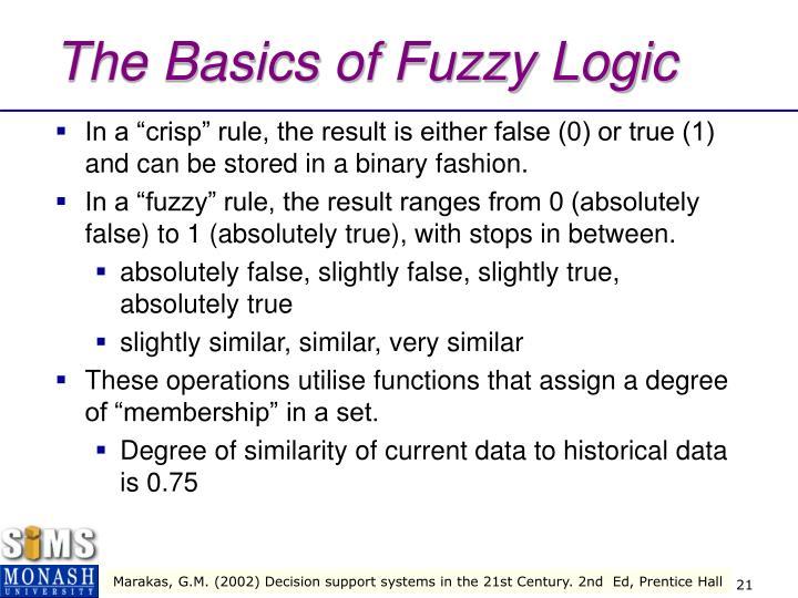 The Basics of Fuzzy Logic