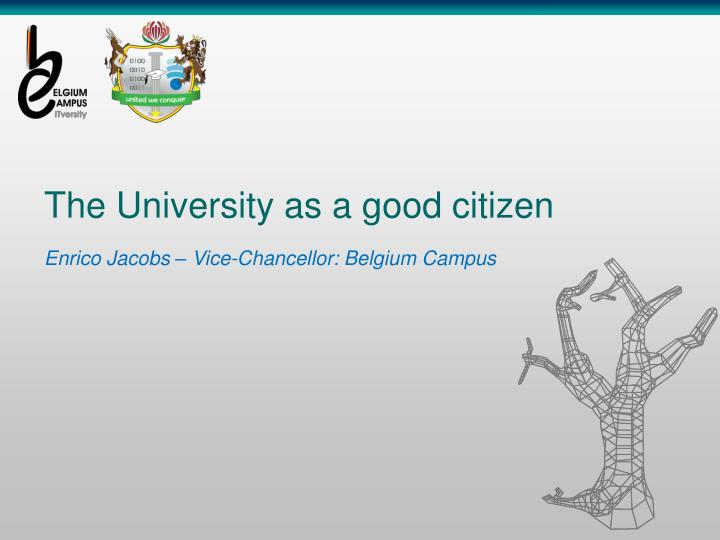 the university as a good citizen n.