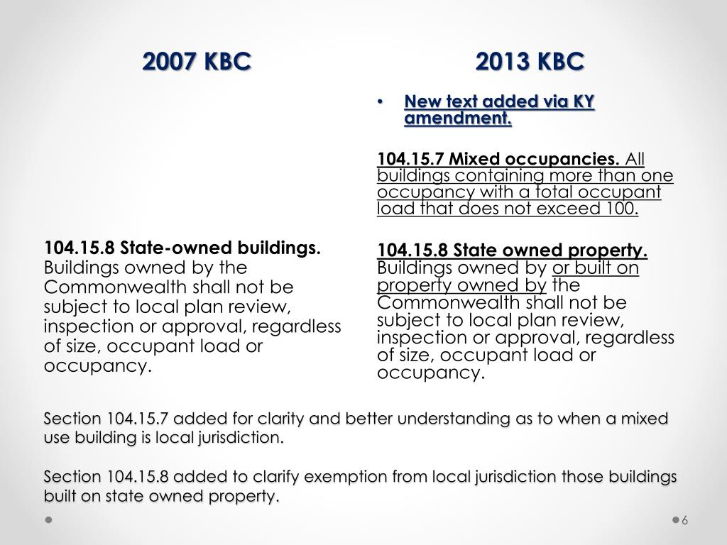 PPT - Transitioning to the 2013 Kentucky Building Code