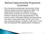 national apprenticeship programme committee