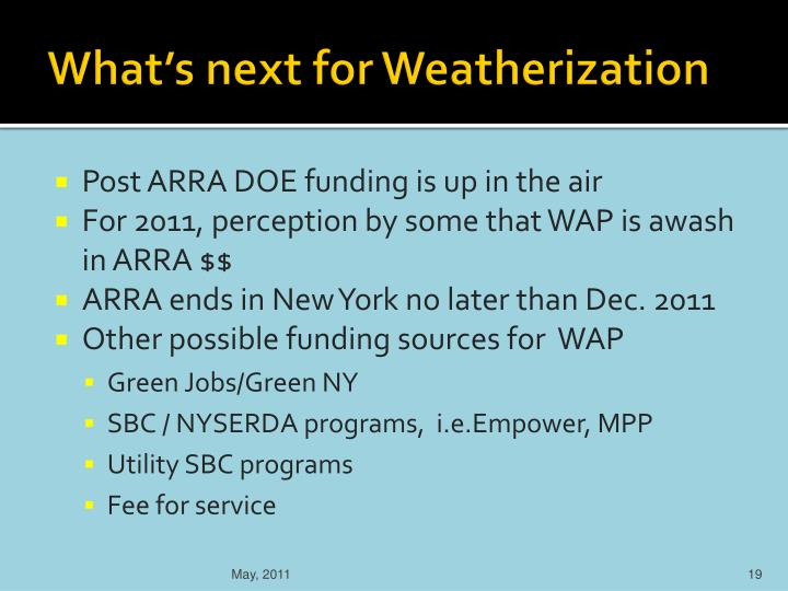 What's next for Weatherization