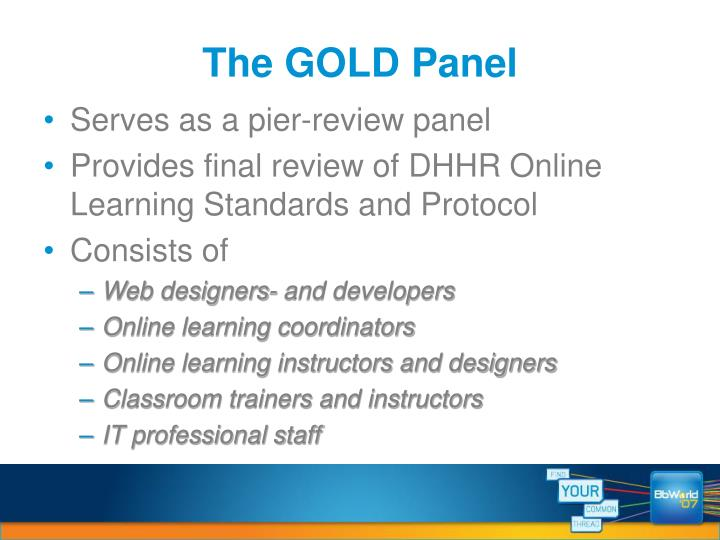 The GOLD Panel