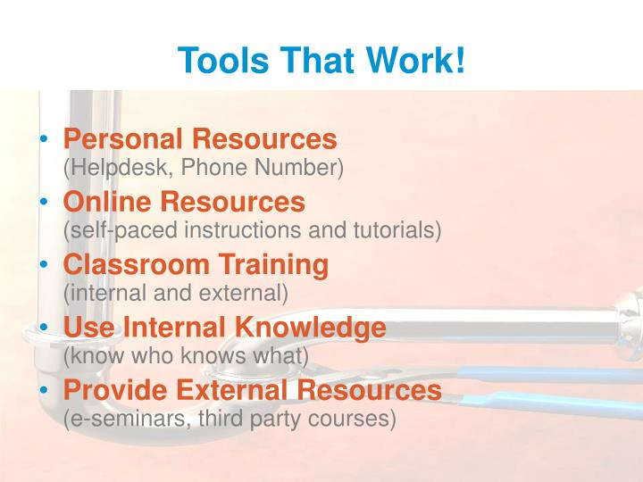 Tools That Work!