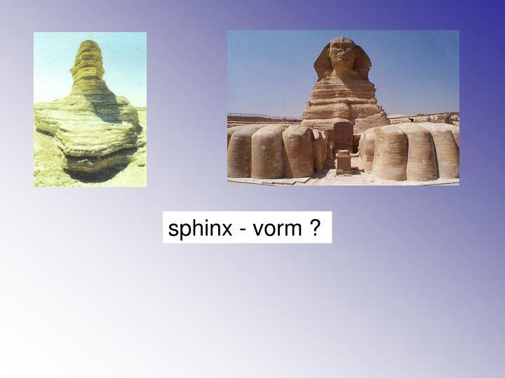 sphinx - vorm ?