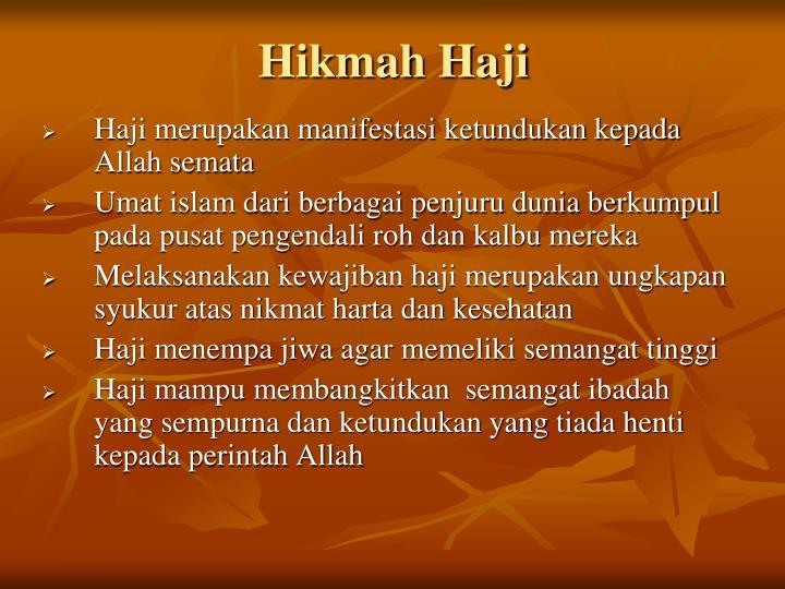 Hikmah Haji