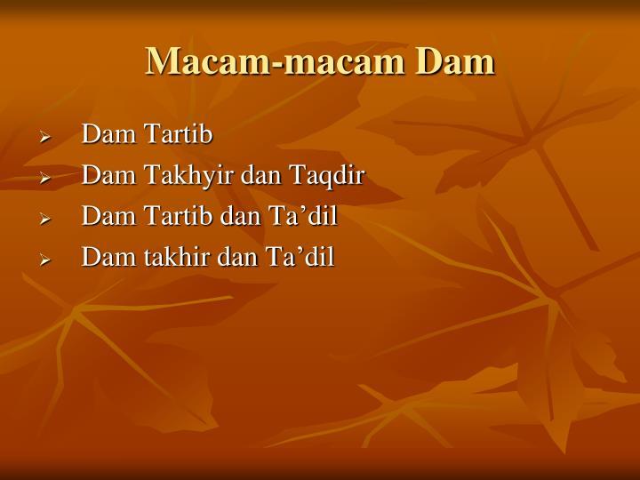 Macam-macam Dam