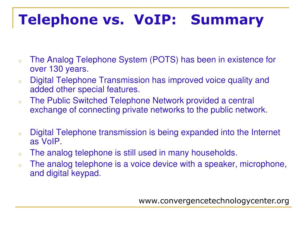 PPT - Telephone /VoIP PowerPoint Presentation - ID:4024554