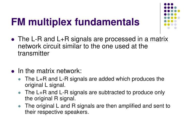FM multiplex fundamentals