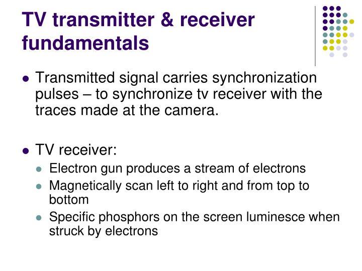 TV transmitter & receiver fundamentals