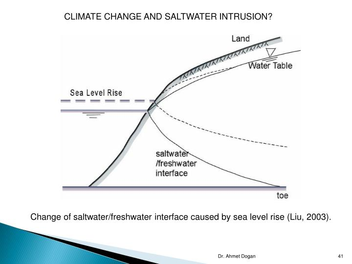 CLIMATE CHANGE AND SALTWATER INTRUSION?