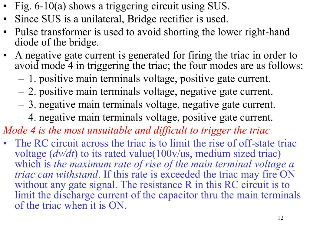Pulse Transformer Triggering Circuit