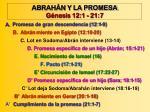 abrah n y la promesa g nesis 12 1 21 7