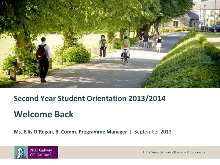 second year student orientation 2013 2014 n.
