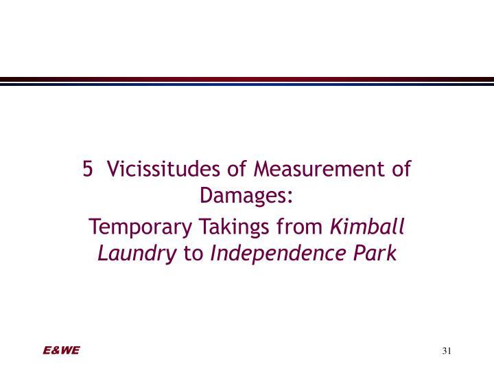 5  Vicissitudes of Measurement of Damages: