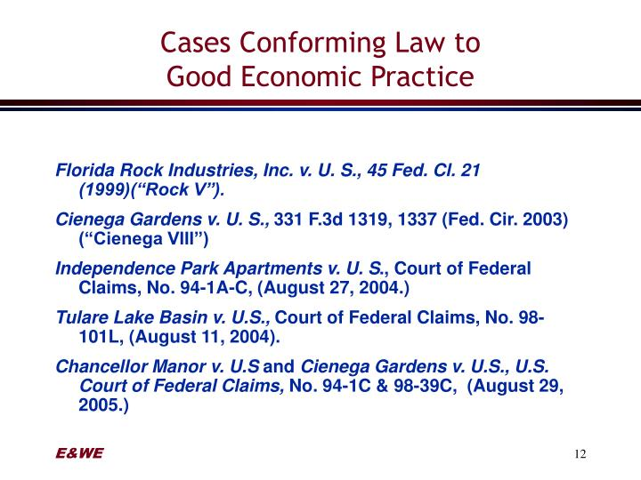 Cases Conforming Law to