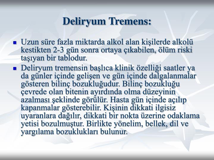 Deliryum Tremens: