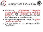 summary and future plan