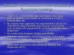variables that contributed to the formation of roundtable meetings