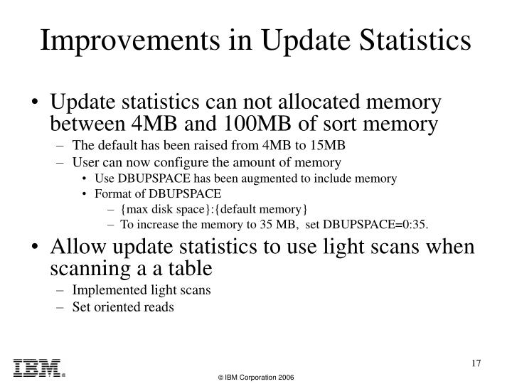 Update statistics can not allocated memory between 4MB and 100MB of sort memory