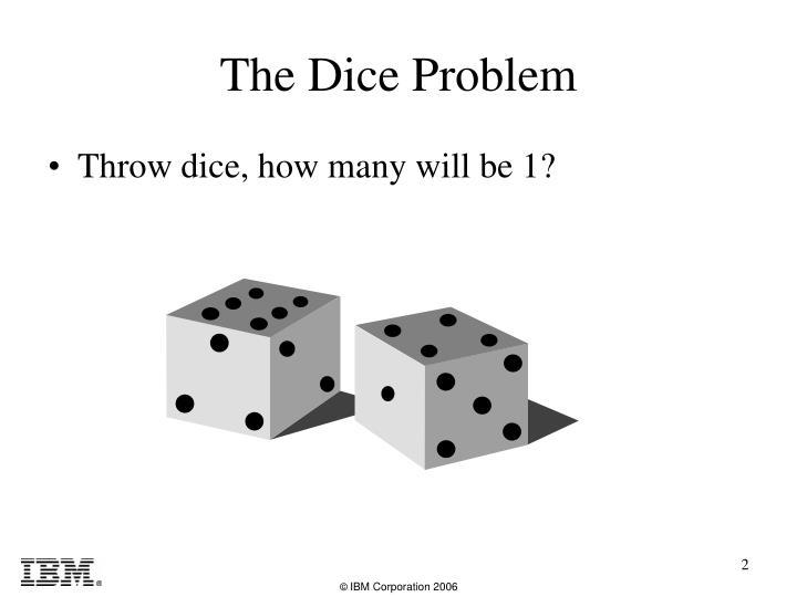 The dice problem