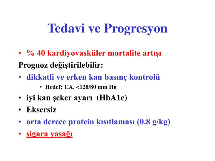 Tedavi ve Progresyon