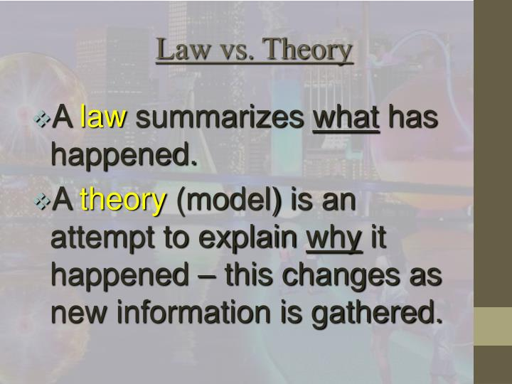 Law vs. Theory