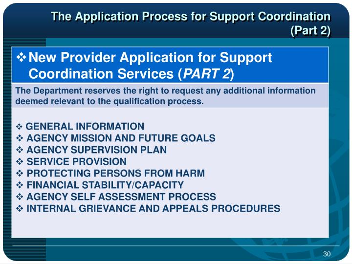 The Application Process for Support Coordination (Part 2)