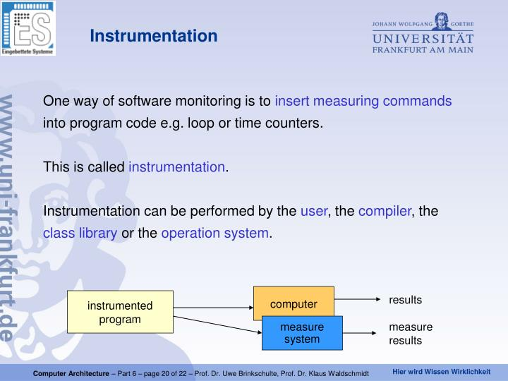 One way of software monitoring is to