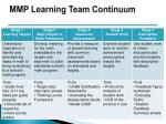 mmp learning team continuum