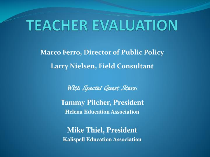 "teacher evaluation essay ""the widget effect,"" a widely read 2009 report from the new teacher project, surveyed the teacher evaluation systems in 14 large american school districts and concluded that status quo systems provide little information on how performance differs from teacher to teacher the memorable statistic."