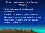 functional movement screen fms tm