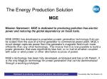 the energy production solution