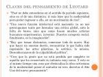 claves del pensamiento de lyotard