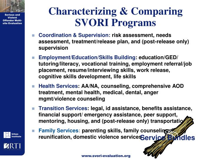 Characterizing & Comparing
