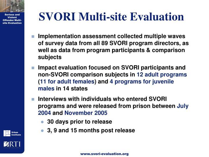 SVORI Multi-site Evaluation