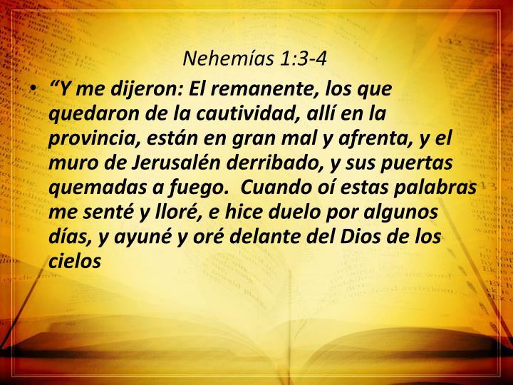 Nehemías 1:3-4