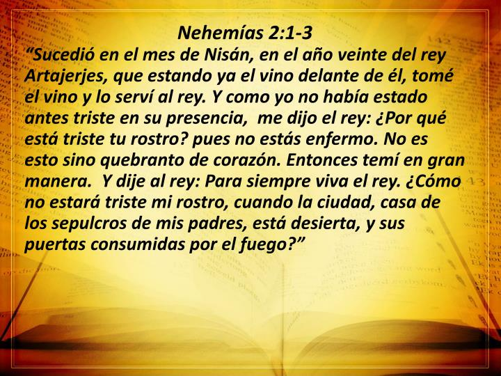 Nehemías 2:1-3