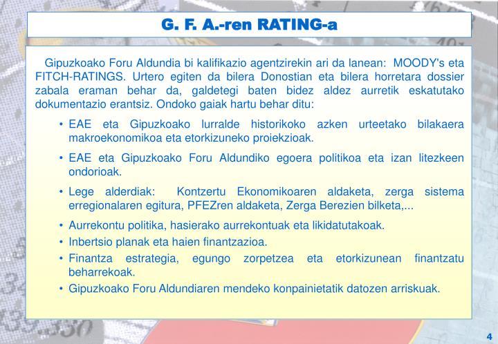 G. F. A.-ren RATING-a