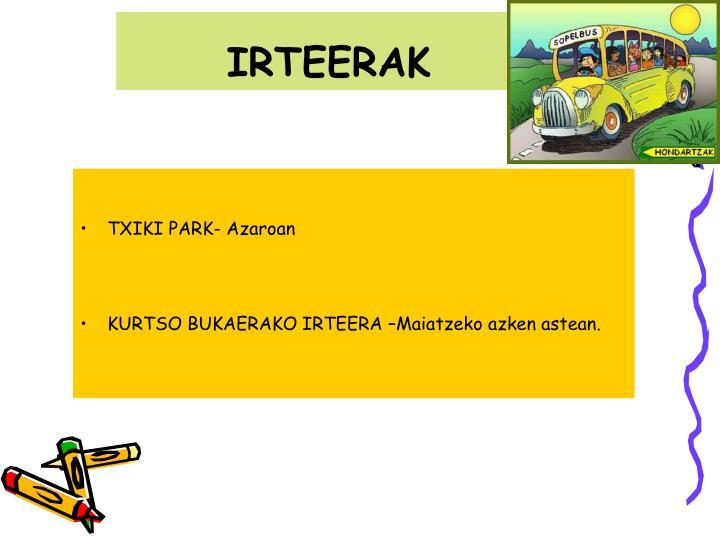 IRTEERAK
