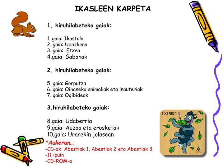 IKASLEEN KARPETA