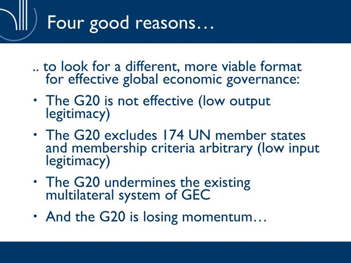 Four good reasons…