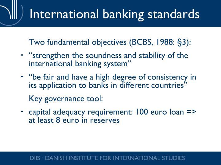 International banking standards