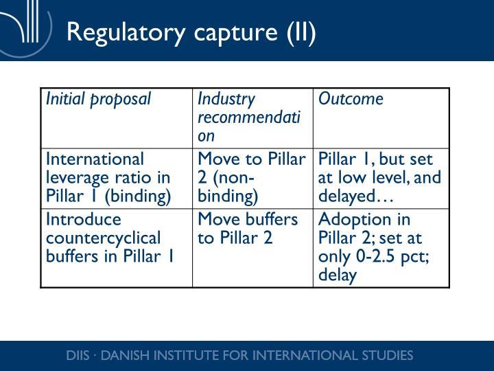 Regulatory capture (II)