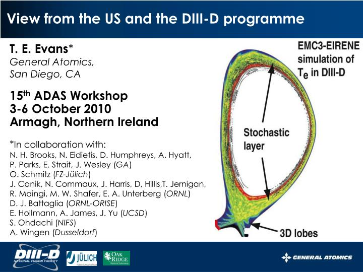 view from the us and the diii d programme n.