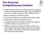 the american competitiveness initiative
