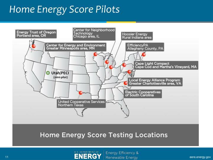 Home Energy Score Pilots