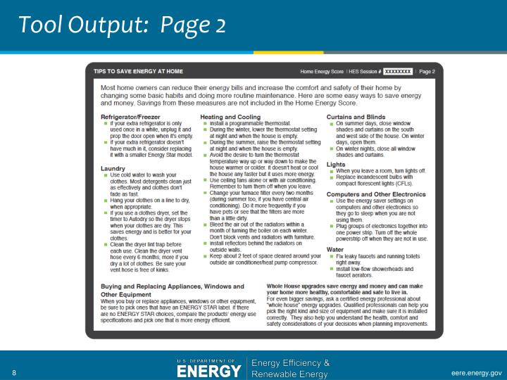 Tool Output:  Page 2