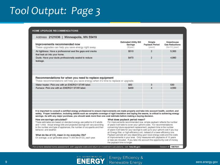 Tool Output:  Page 3