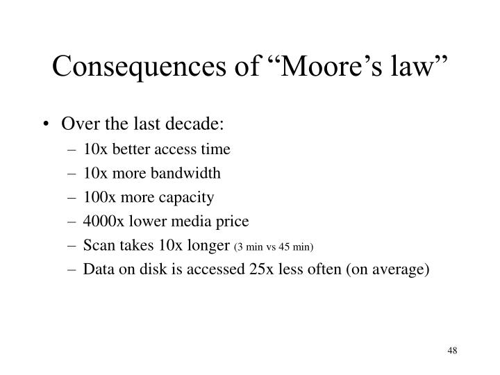 """Consequences of """"Moore's law"""""""
